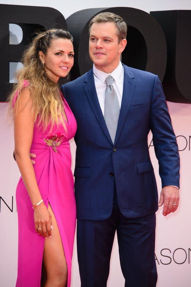 Tài tử Matt Damon và vợ