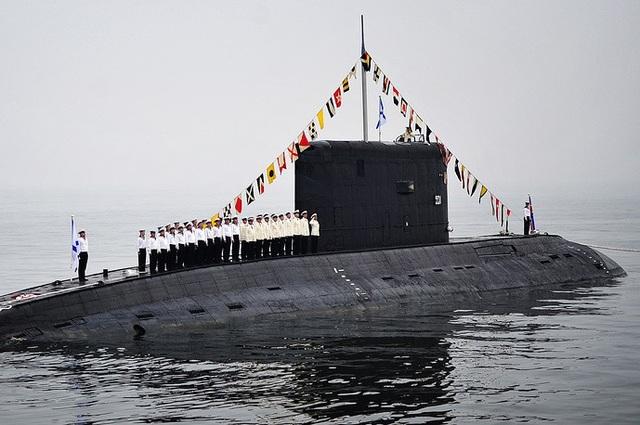 Tàu ngầm diesel Varshavyanka thuộc Đề án 636 của Hải quân Nga.