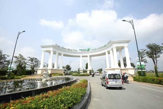 Cổng vào Khu đô thị sinh thái năm sao - Five Star Eco City
