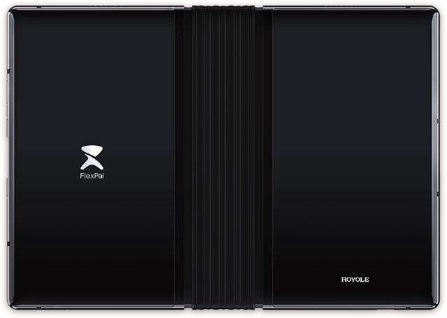 Mặt sau của sản phẩm với phần bản lề ở giữa để gập đôi màn hình