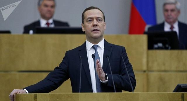 Thủ tướng Nga Dmitry Medvedev (Ảnh: Sputnik)