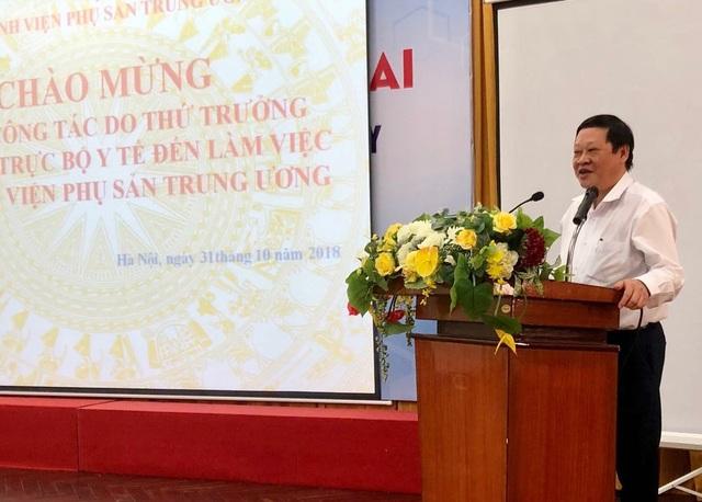 Thứ trưởng Bộ Y tế Nguyễn Viết Tiến. Ảnh: H.Hải