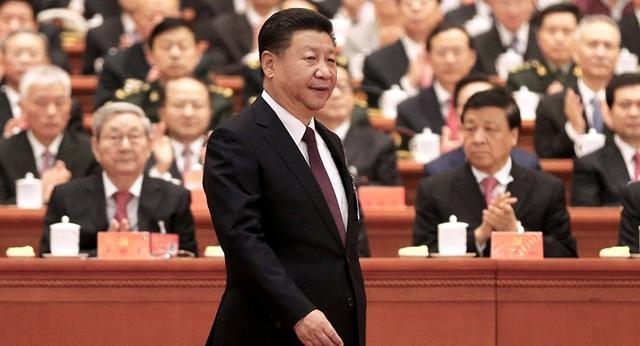 Chủ tịch Tập Cận Bình dự đại hội đảng Cộng sản Trung Quốc tại Bắc Kinh năm 2017. (Ảnh: Reuters)