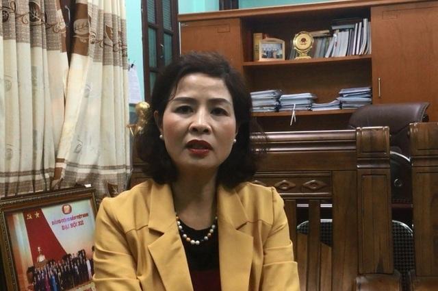 Bà Phạm Thị Hằng, Giám đốc Sở GD&ĐT Thanh Hóa cho rằng việc kỷ luật học sinh của trường THPT Nguyễn Trãi là nóng vội.