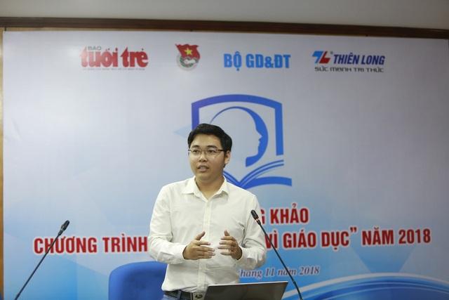 Vòng thi chung khảo Tri thức trẻ vì giáo dục 2018 diễn ra vào ngày 9/11 tại Hà Nội.