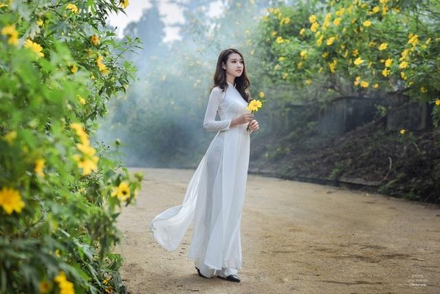 Thiếu nữ đất Cố đô khoe sắc bên hoa dã quỳ đầu mùa - 11