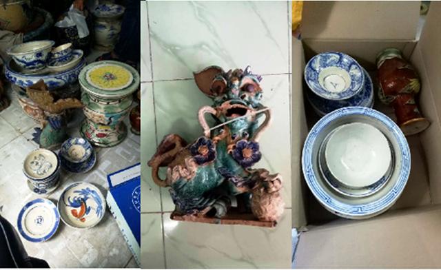 Số cổ vật bị các đối tượng lấy trộm đã được công an thu giữ, trao trả cho các cơ sở Tôn giáo.