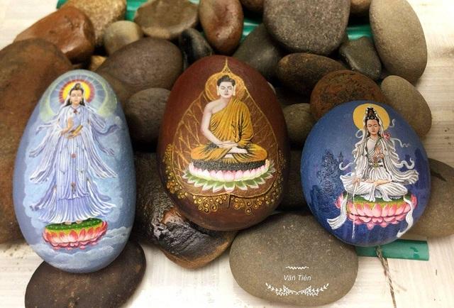 Bức tranh trên đá cuội sống động như thật của chàng trai Thái Bình - 8