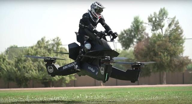 Xe bay của cảnh sát Dubai (Ảnh: Hoversurf)