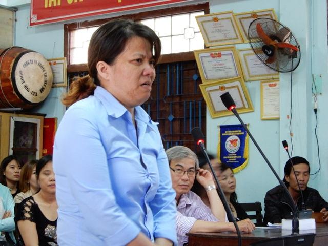 Bị cáo Hồng tại phiên tòa