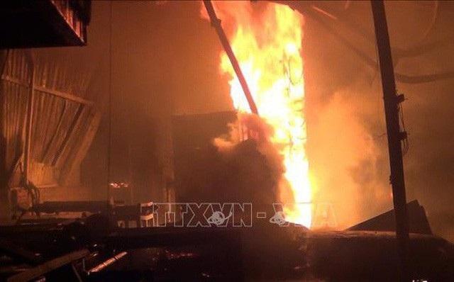 Vụ nổ xảy ra tại nhà máy Foosung Precision Industry Co ở thành phố Wonju, phía Đông Hàn Quốc (ảnh: TTXVN)