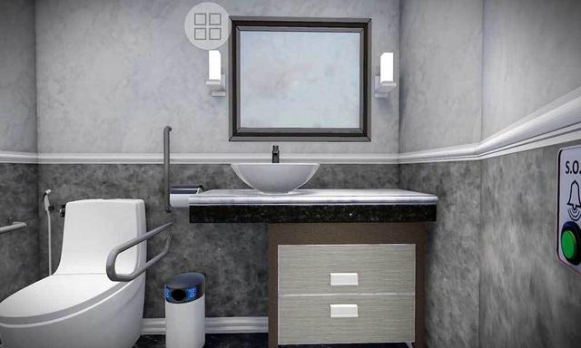 Bên trong nhà vệ sinh thông minh do Hiệp hội nhà vệ sinh Việt Nam thực hiện