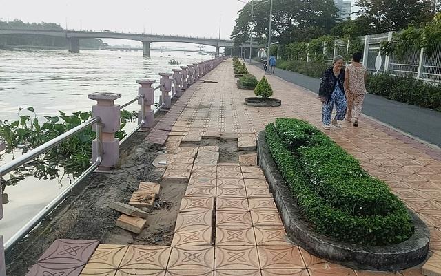 Bờ kè rạch Khai Luông được đưa vào sử dụng từ tháng 7/2016