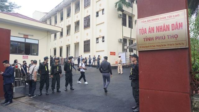 Phiên xử diễn ra tại Tòa án nhân dân tỉnh Phú Thọ