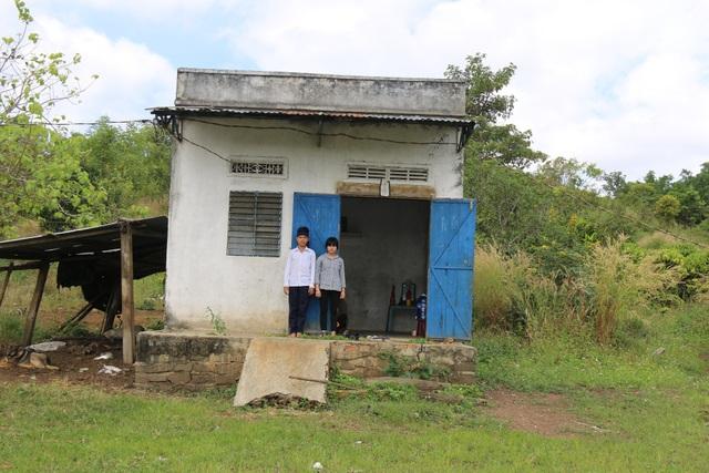 Căn nhà nơi hai chị em Vượng ở sau khi bố mẹ lần lượt qua đời
