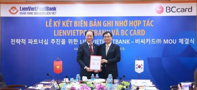 LienVietPostBank và BC Card ký biên bản ghi nhớ hợp tác - 1