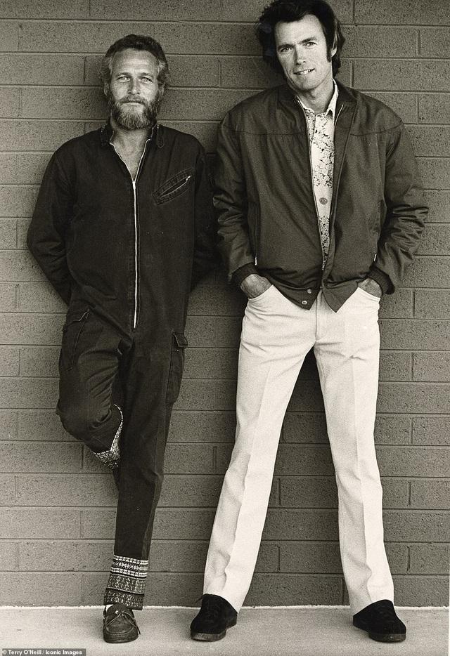 Hai diễn viên Hollywood - Paul Newman và Clint Eastwood hồi năm 1972.