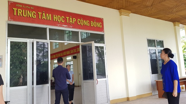 Trung tâm tập học tập cộng đồng xã Phú Hộ, Thị xã Phú Thọ (Phú Thọ).