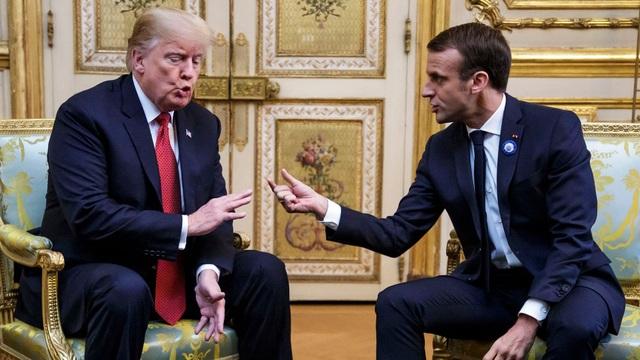 Tổng thống Mỹ Donald Trump và người đồng cấp Pháp Emmanuel Macron (Ảnh: Reuters)