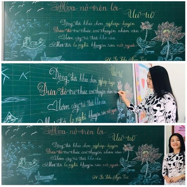 """Mê mẩn những nét chữ """"rồng bay - phượng múa"""" của các giáo viên trên bảng xanh - 11"""