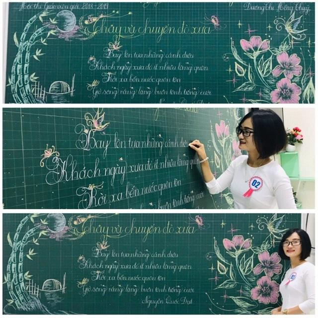 """Mê mẩn những nét chữ """"rồng bay - phượng múa"""" của các giáo viên trên bảng xanh - 3"""