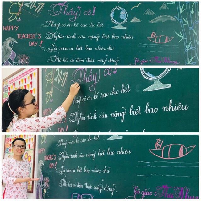 """Mê mẩn những nét chữ """"rồng bay - phượng múa"""" của các giáo viên trên bảng xanh - 2"""
