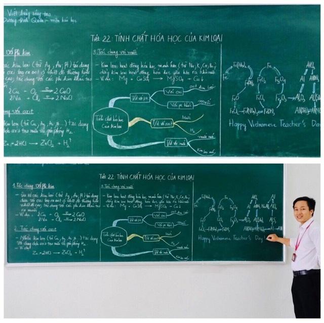 """Mê mẩn những nét chữ """"rồng bay - phượng múa"""" của các giáo viên trên bảng xanh - 5"""