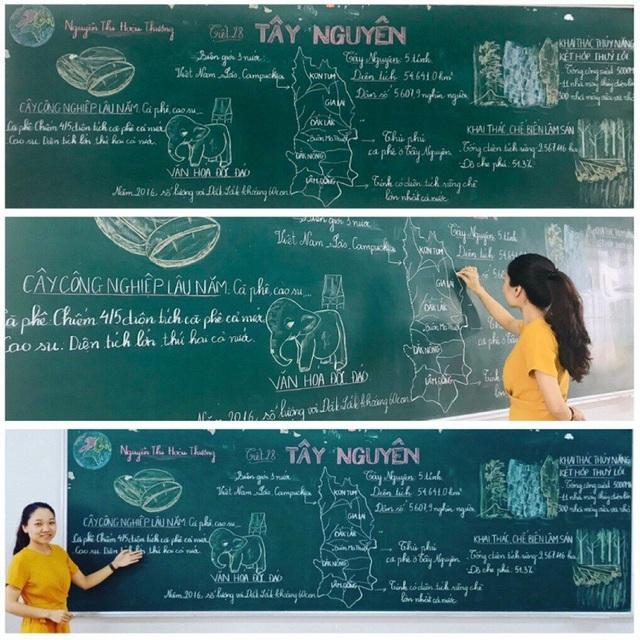 """Mê mẩn những nét chữ """"rồng bay - phượng múa"""" của các giáo viên trên bảng xanh - 7"""