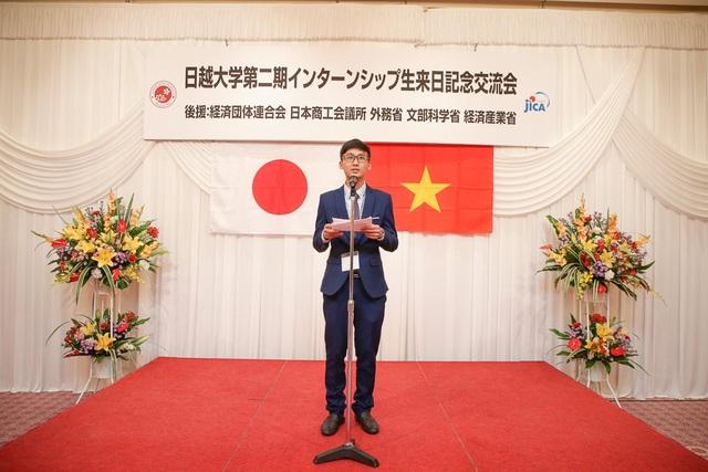 Học viện trường ĐH Việt Nhật phát biểu tại buổi giao lưu