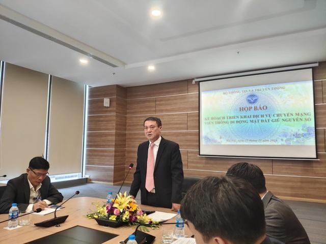 Thứ trưởng Bộ TT-TT Phạm Hồng Hải chủ trì buổi họp báo về kế hoạch cung cấp dịch vụ chuyển mạng di động giữ nguyên số.