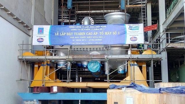 Lắp đặt thành công TUABIN cao áp và trung áp (HIP) của tổ máy số 1 NMNĐ Sông Hậu 1