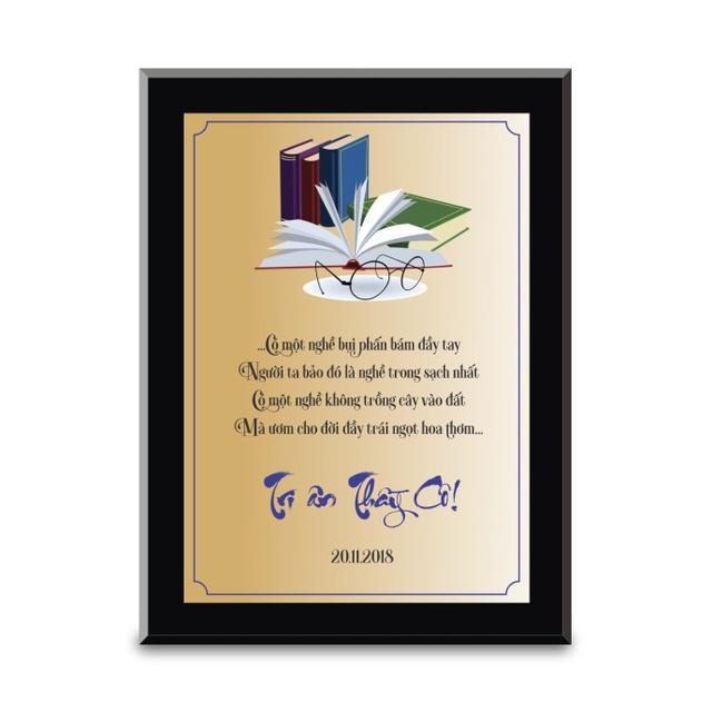 Biểu trưng tri ân đẹp, sang trọng, truyền tải được thông điệp vinh danh và có ý nghĩa tự hào rất lớn đối với người nhận.