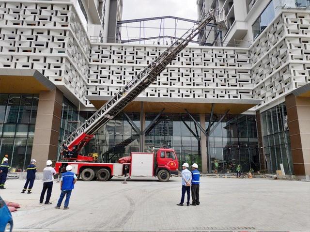 Diễn tập phòng cháy chữa cháy tại dự án