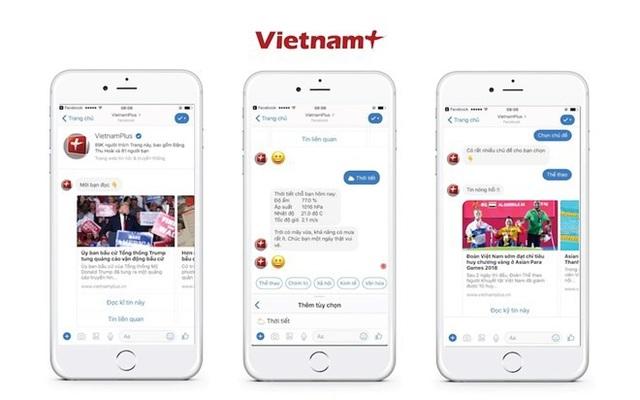 Nhân kỷ niệm 10 thành lập, Báo Điện tử VietnamPlus chính thức ra mắt ứng dụng chatbot tự động tương tác với độc giả, đánh dấu bước tiến mới của tòa soạn trong việc ứng dụng cách mạng công nghiệp lần thứ tư trong báo chí.