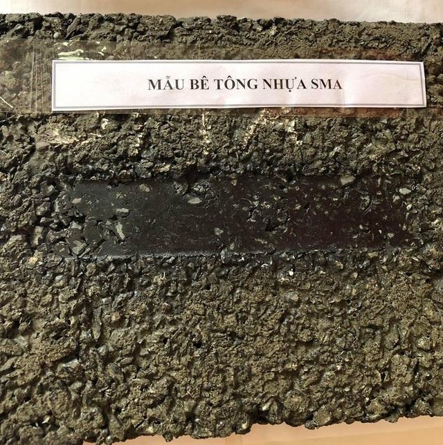 Sản phẩm mẫu bê tông nhựa SMA của giảng viên trường ĐH Giao thông vận tải nghiên cứu