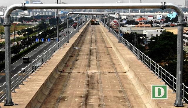 Gói thầu số 2 bao gồm 17,1km đi trên cao và Depot Long Bình đã đạt khối lượng thi công 77,5%