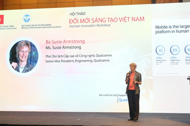 Bà Susie Armstrong, Phó Chủ tịch Cấp cao về Công nghệ của Qualcomm.
