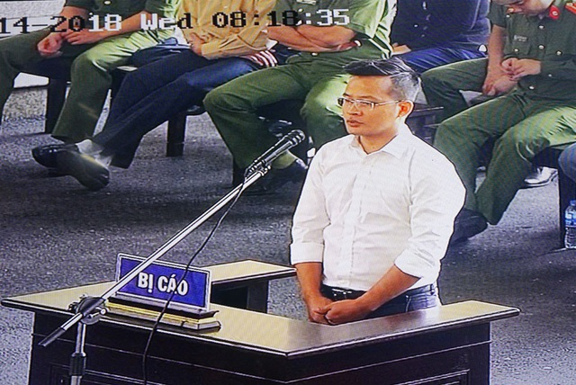 Bị cáo Vũ Văn Dũng.