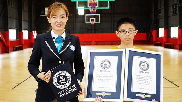 Jianyu nhận cùng lúc 2 kỷ lục Guinness thế giới