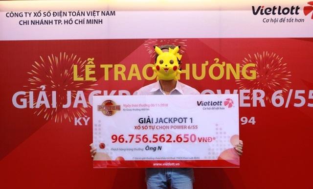 Ông N. (ngụ TPHCM) nhận giải thưởng gần 97 tỷ đồng cách đây không lâu.