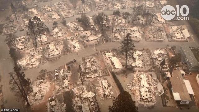 Paradise hoang tàn sau vụ hỏa hoạn (Ảnh: ABC10)