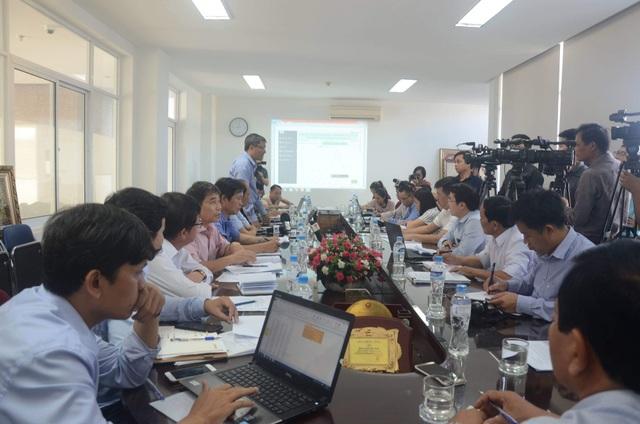 Đoàn công tác của Cục Quản lý tài nguyên nước làm việc về tình trạng thiếu nước tại Đà Nẵng.