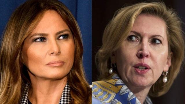 Đệ nhất phu nhân Melania Trump và bà Mira Ricardel. (Ảnh: New Daily)