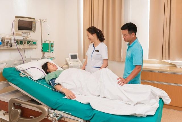 Các sản phụ sinh tại Vinmec có thể trải nghiệm sinh không đau với sự hỗ trợ của các phương pháp gây tê hỗ trợ chuyển dạ an toàn.
