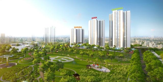 Hồng Hà Eco City sở hữu không gian xanh sinh thái