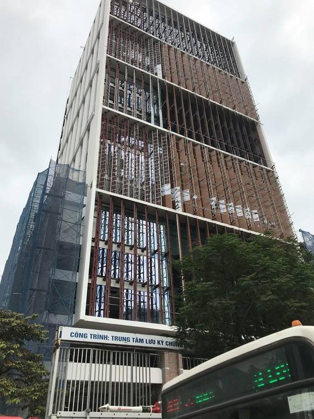 Công trình Trung tâm Lưu ký chứng khoán Việt Nam, nơi xảy ra vụ cháy.