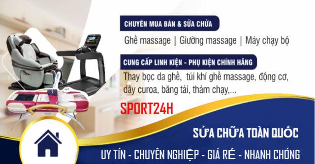 SPORT24H.VN cam kết dịch vụ sửa chữa ghế massage, máy chạy bộ tại nhà