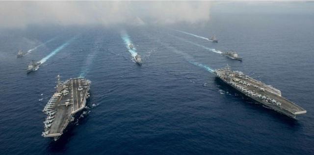 Mỹ tiếp tục điều các tàu sân bay tới vùng biển Đông Á tham gia các cuộc diễn tập. (Ảnh minh họa: Reuters)