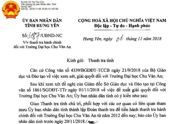 Sau nhiều sai phạm, trường đại học Chu Văn An tiếp tục bị thanh tra hành chính - 1