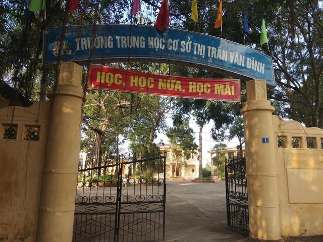 Trường THCS Thị trấn Vân Đình (Ảnh: Mỹ Hà)